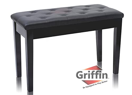 Griffin Premium Antique Black Piano Bench