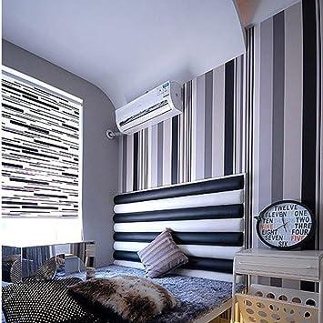 Schwarz Und Weiß Grau Vertikale Streifen Wallpaper Wohnzimmer Hintergrund  Peeling Wand Hintergrundbild Tapete