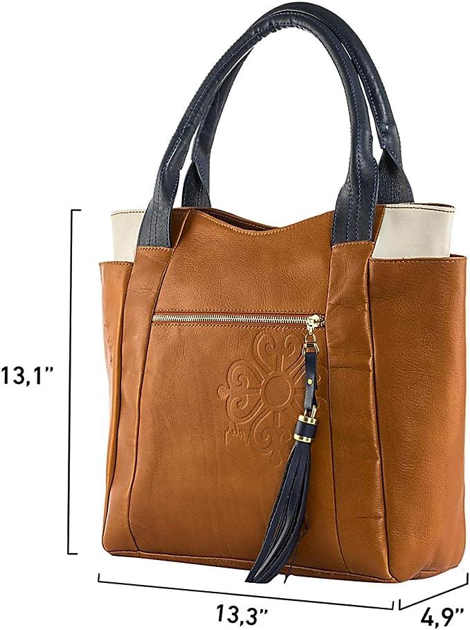 Velez De Piel Tamaño Grande Azul Bolsos para mujeres bolso