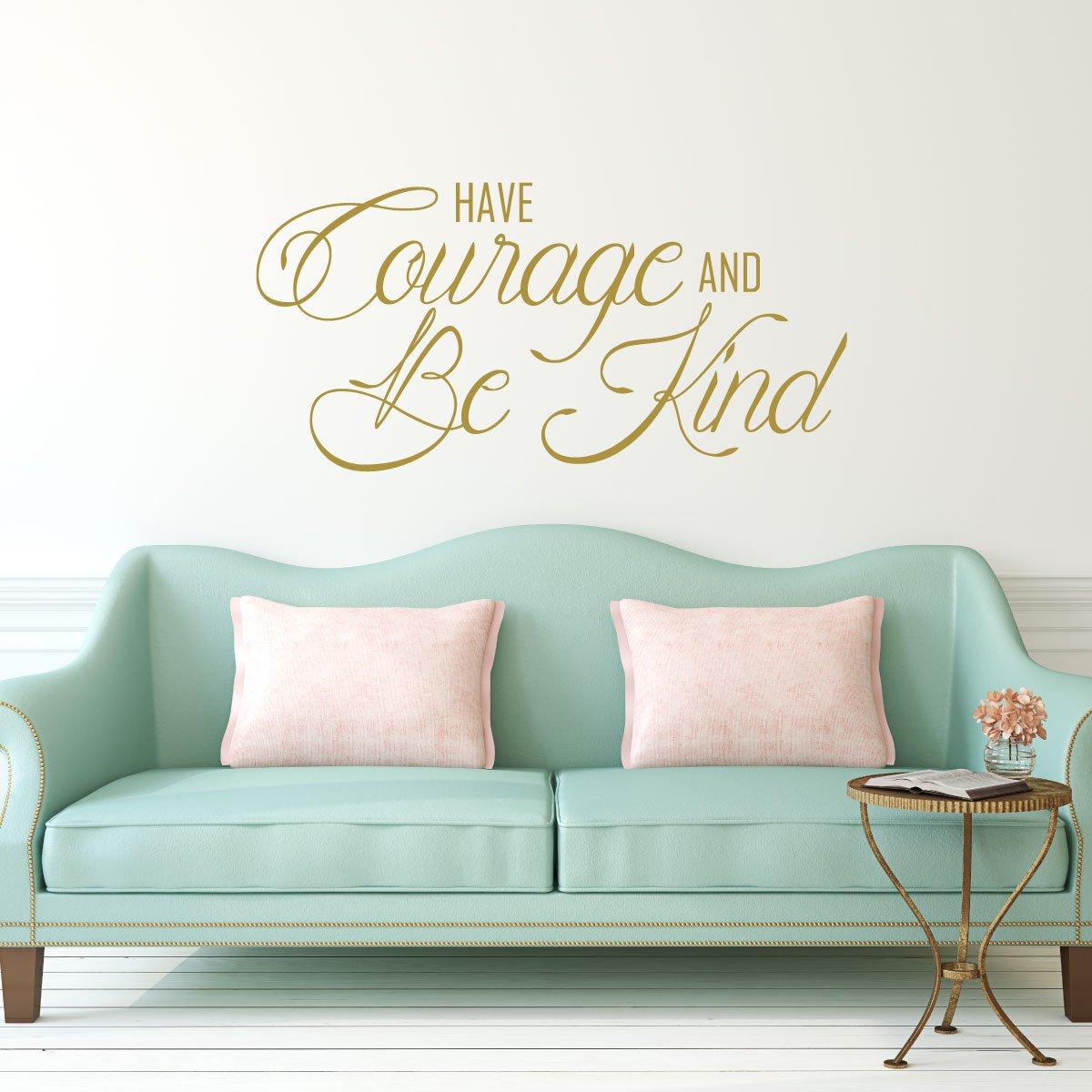 Inspiración Pared Adhesivo - tienen el coraje y Be tipo ...