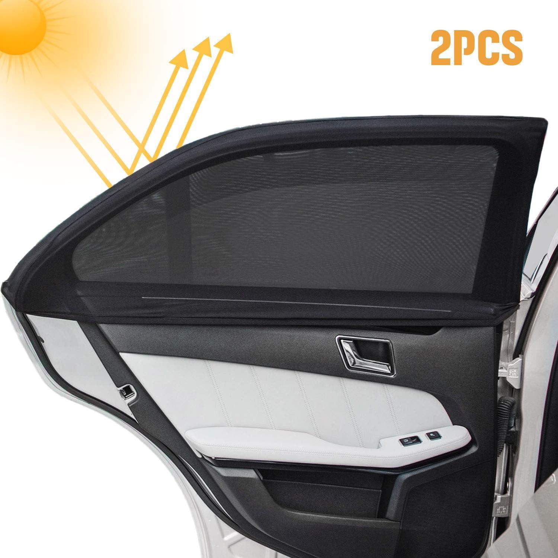 Vitres lat/érales 2pcs S//M//L//XL Taille voiture Protection contre le soleil ombre Protection UV voiture fen/être pare-soleil lat/éraux en rideau Mesh pare-soleil d/ét/é fen/être Cover