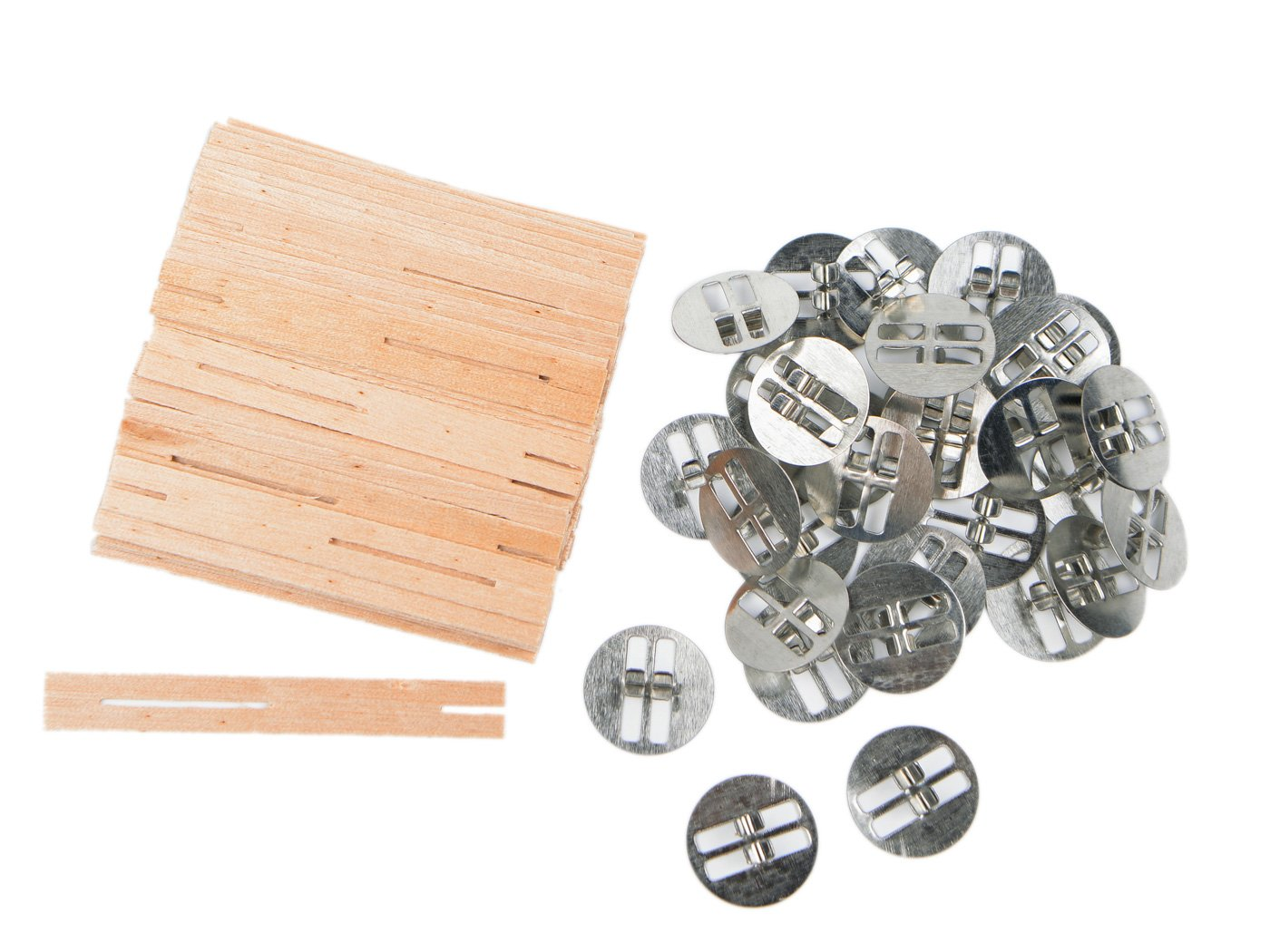 30 Sets 3.2 inch Cross Wooden Candle Wicks, Wood Candle Wicks for Candle Making and Candle DIY TADAE