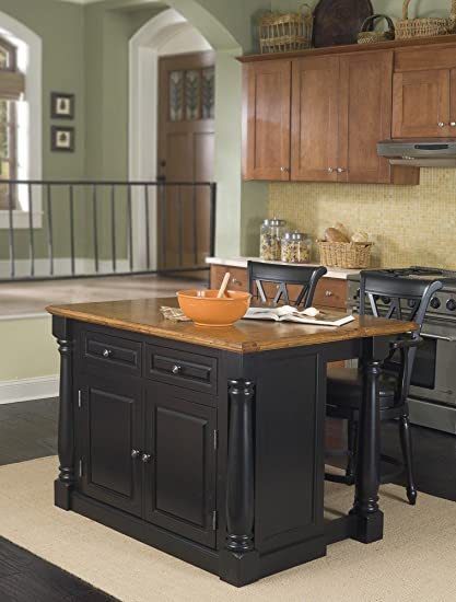 Amazon.com - Home Styles 5008-948 Monarch Kitchen Island with 2 ...