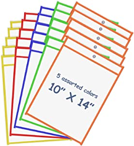 Board2by Reusable Dry Erase Pockets 25 Pack, Clear 10
