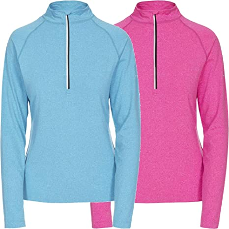 TRESPASS WOMENS 1//4 ZIP FLEECE PULLOVER THERMAL LAYER HIKING LADIES TOP EK