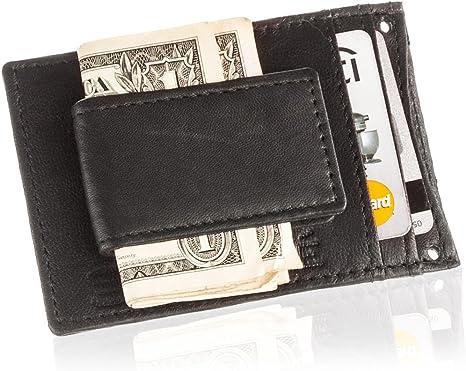 Men/'s Minimalist Wallet Money Clip Coin Front Pocket Slim Credit Card Holder ID