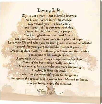 Genial Living Life By Bonnie Mohr   14u0026quot;x14u0026quot; Gallery Wrapped Giclee  Canvas Art Print
