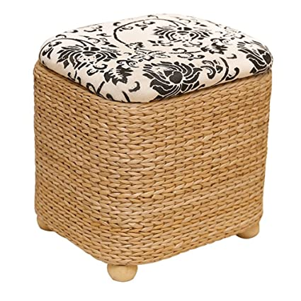Footstools YXX  Wood Color Bedroom Storage Stool Basket Shoe Bench Foyer  Sofa Stool Living Room