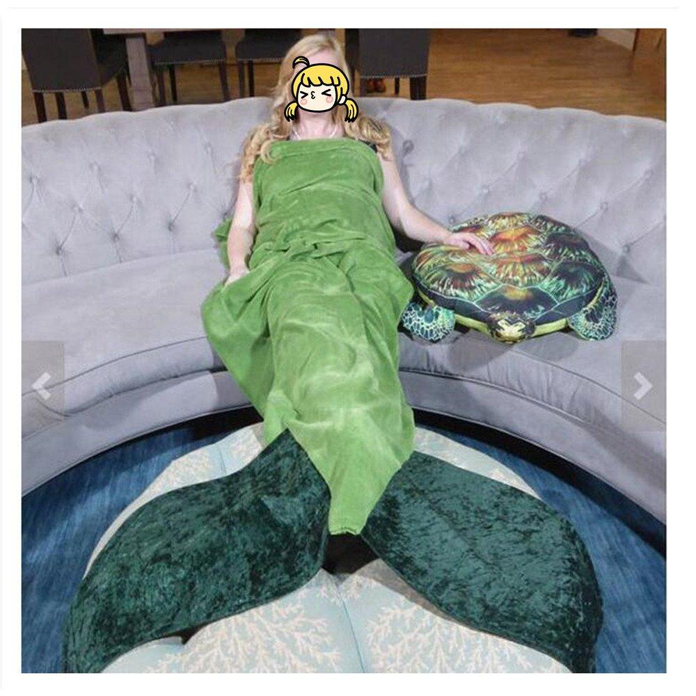 mltaoフランネルマーメイドテールブランケット、Shark Tailブランケット、Fish Tail毛布大人とティーン、暖かいソファリビングルームブランケット B01M08ZTST