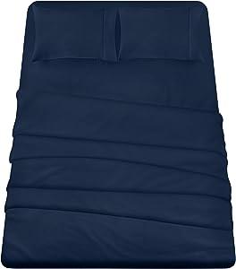 Utopia Bedding 4-Piece Queen Bed Sheets Set (Navy)