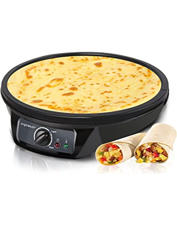Aigostar Moabit 30CES - Máquina para hacer crepes, tortitas, tortillas con 1000W. Antiadherente