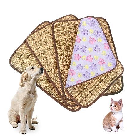 Idepet Colchoneta de refrigeración de doble uso para mascotas, para perros y gatos adultos y cachorros; cama ...