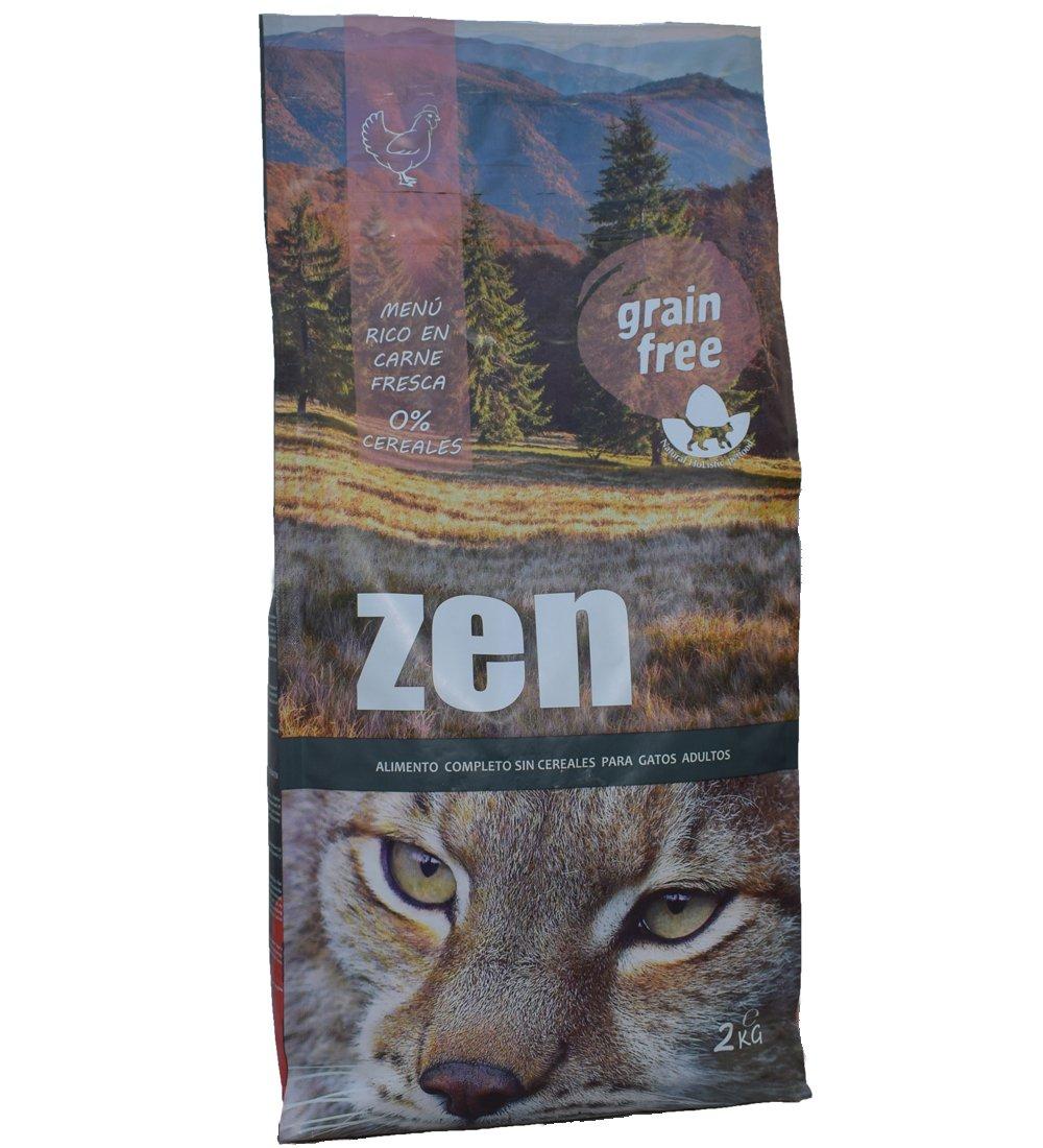 Alimento holístico para gatos adultos a partir de 12 meses, 2kg. - Pienso gatos Rico en carne fresca de pollo y patata cereales 0% - comida para gatos sin ...