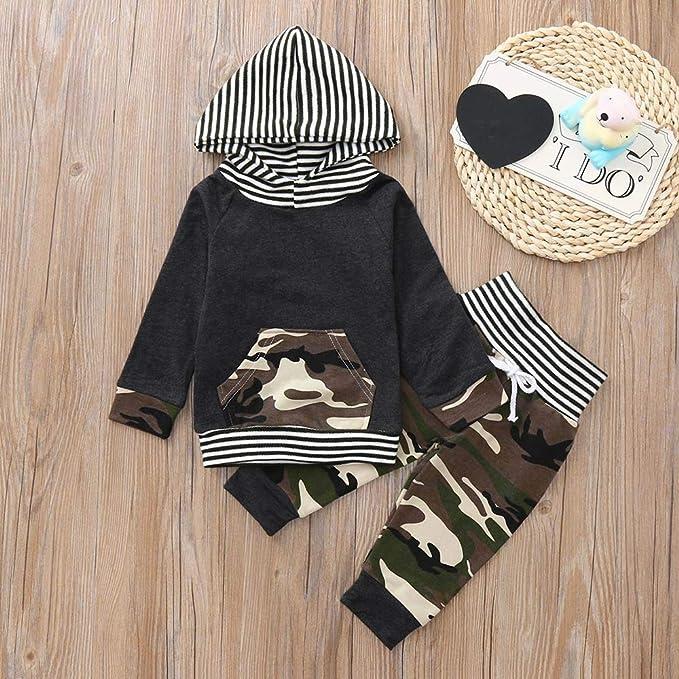 Kinlene T-Shirt da Bambino con Cappuccio e Stampa Manica Lunga per Bambini
