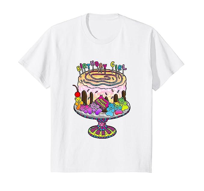 Amazon Birthday Girl Gummy Bear Birthday Cake T Shirt Clothing