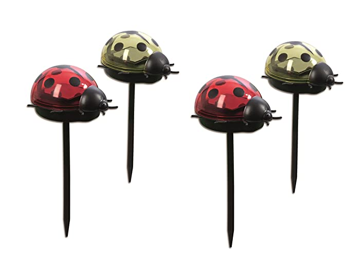 Beau Easymaxx Solar Powered Ladybird Lights Set Of 4 | Wireless | Garden Lights/Outdoor  Lighting