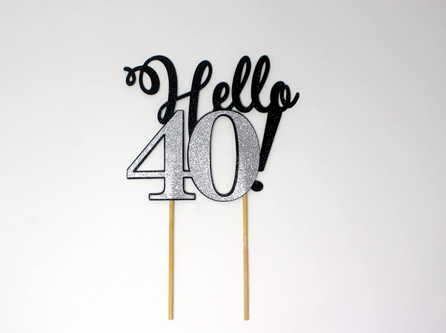 Cake Topper All About Details Pink Hello 40