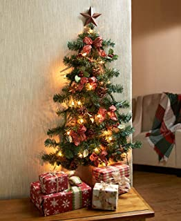 the lakeside collection lighted christmas wall tree country star