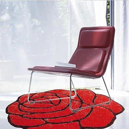 Tappeto Per Sedie Da Tappezzare Con Tappeto Rotondo In Stile Rosa ( Colore  : Rosso ,