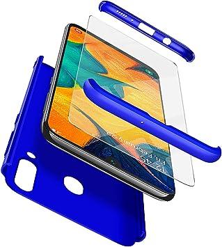 AROYI Samsung Galaxy A30 Funda + Cristal Templado, Carcasa 360 Grados Integral Ambas Caras HD Protector de Pantalla [Anti-Arañazos] 3 en 1 Desmontable Caso Cover para Samsung Galaxy A30: Amazon.es: Electrónica