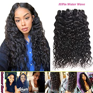 Water Hair Bundles 8A Brazilian Water Wave Human Hair 3 Bundles 10 12 14  inch Water c13a225730