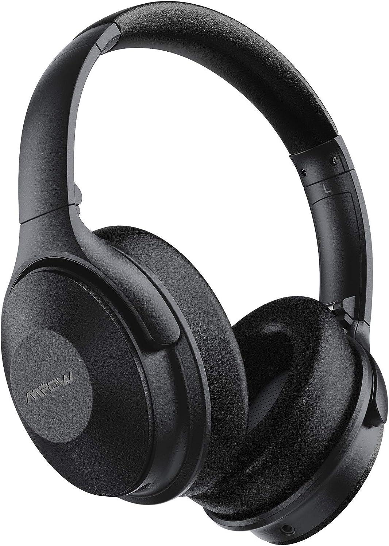 Mpow H17 Auriculares con Cancelación de Ruido, 45 Horas de Reproducir, Cascos Bluetooth Diadema con Carga Rápida, Sonido Hi Fi, Auriculares Diadema Bluetooth con Micrófono para TV, Móvil, PC