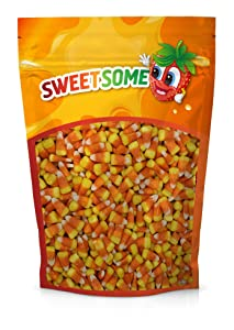 SWEETSOME Candy Corn - Classic Flavor Brachs Candy Corn - Tri-Colored Halloween Candy - Soft Brachs Candy Bulk - 5 Pounds Candy Bag (5 Pound)