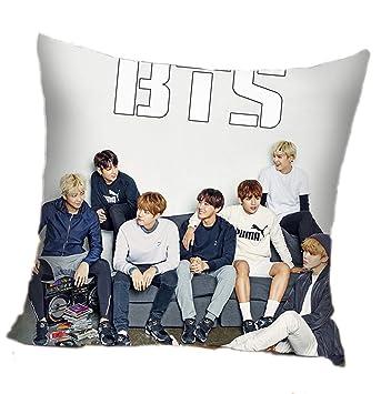Amazon.com: Kpop BTS Bangtan - Funda de almohada cuadrada ...