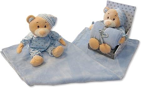Bebé Niños Azul Suave Oso de peluche en Pijama & Manta – Caja ...