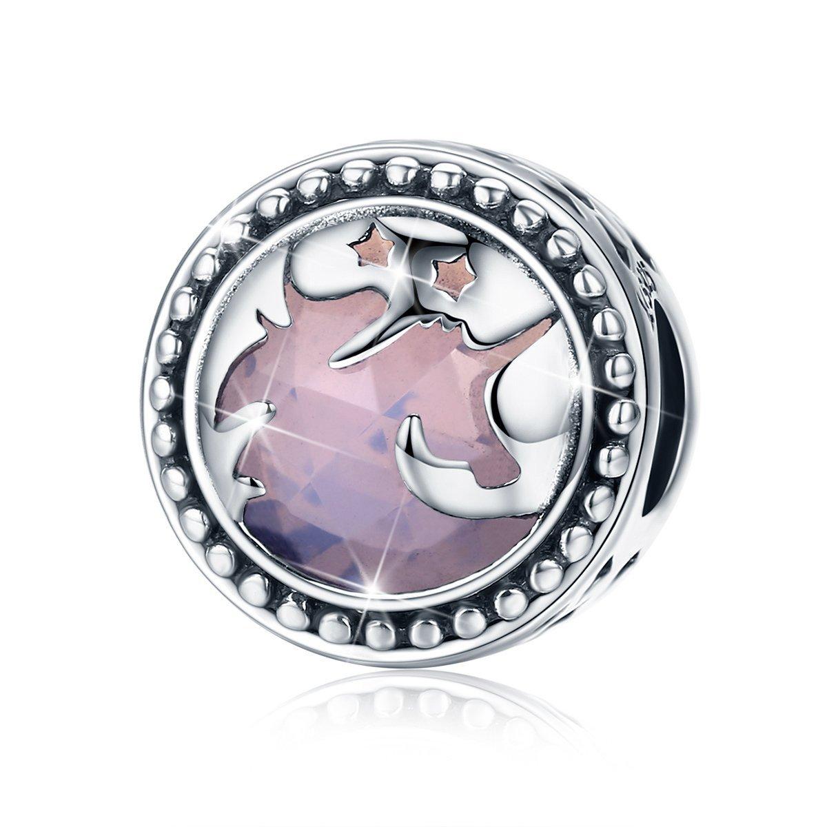 Fantasy Licorne Charm, Argent sterling 925Big Pierre Charms Collier de perles pour bracelet à breloques Serpent, Meilleur Cadeau d'anniversaire de Noël pour maman Wife Girlfriend Bj09003 FQWCBJ09003