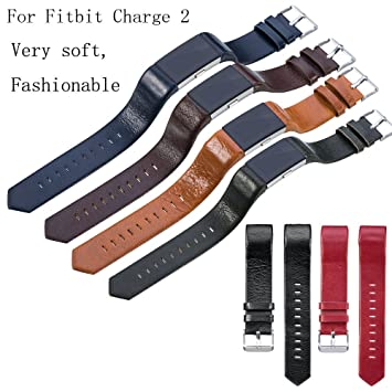 Fitbit Charge 2 correa, weant FB106 piel correa de muñeca banda reloj de repuesto para Fitbit Charge 2, Infantil hombre mujer, negro: Amazon.es: Deportes y ...