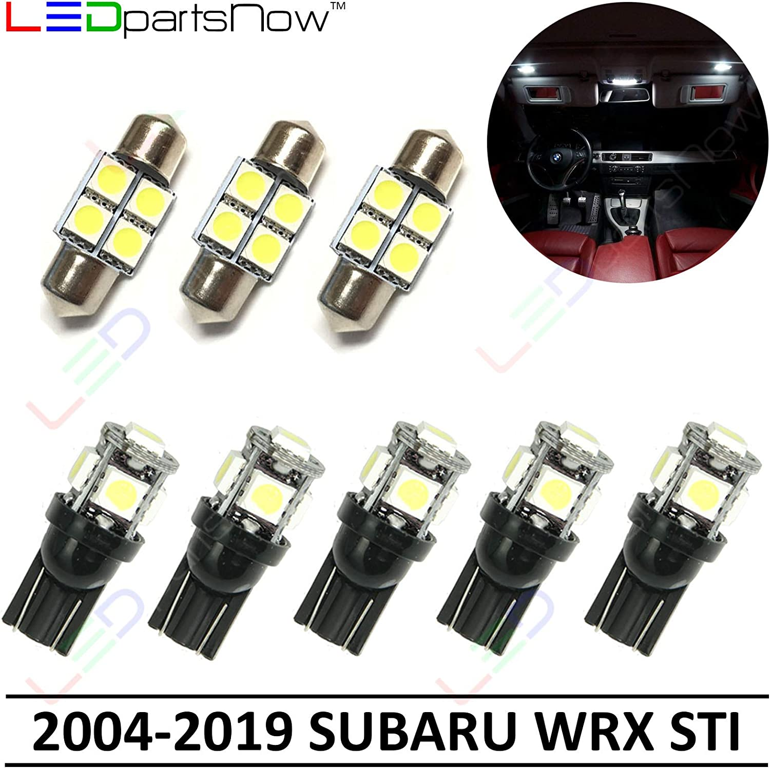 amazon com ledpartsnow interior led lights replacement for 2004 2019 subaru wrx sti accessories package kit 8 bulbs white automotive ledpartsnow interior led lights replacement for 2004 2019 subaru wrx sti accessories package kit 8 bulbs white