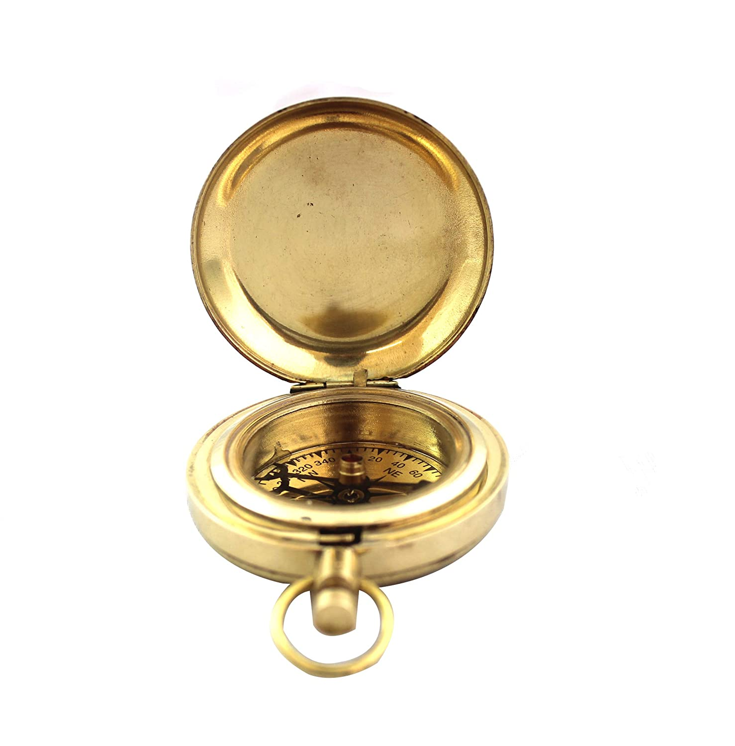 Nautical Collectible Retro Style Compass Decorative Gift Item Brass Finish Compass Brass Finish