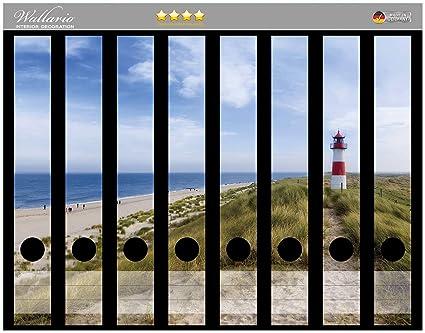 Archivador de adhesivo en la parte trasera de la playa de Sylt, diseño de faro