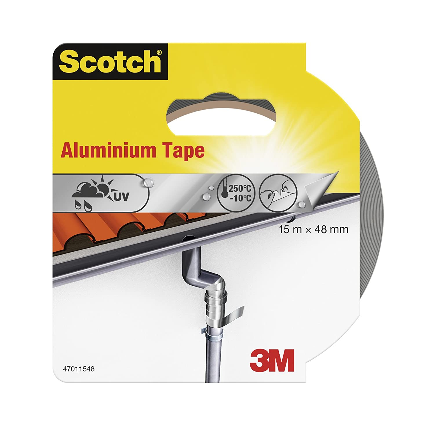 Scotch 47011548 15 m x 48 mm Aluminium Tape 3M