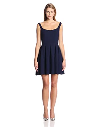 Jill Jill Stuart Women's Elastane Tank Fit and Flare Dress, Navy, 2