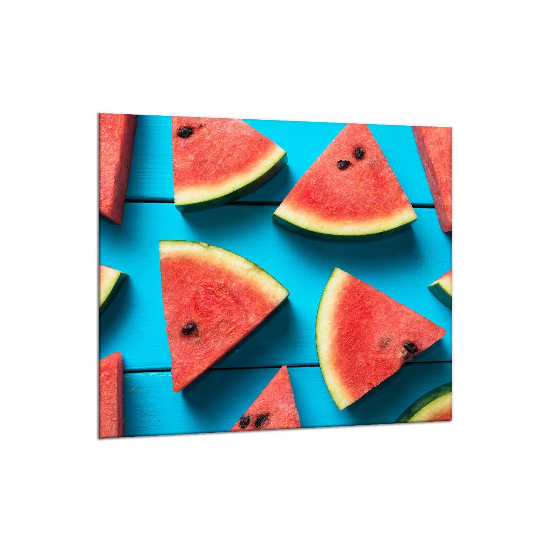 decorwelt   Küchenrückwand Spritzschutz aus Glas 65x60 cm Wandschutz Herd Spüle Küchenspritzschutz Fliesenschutz Fliesenspiegel Küche Dekoglas Obst Rot