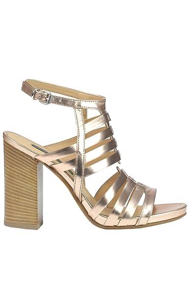 Janet Damen MCGLCAT03204E Bronze Leder Sandalen