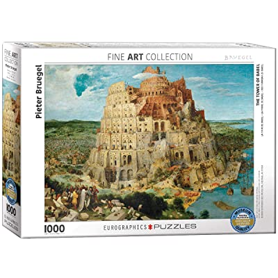 EuroGraphics The Tower of Babel by Pieter Brueghel (1000 Piece) Puzzle: Toys & Games