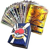 120Pcs Poke Cards,EX Full Art TCG Style Card, Include 30 Team Up, 50 Mega, 20 Trainer, 20 Ultra Beast GX Card, For…