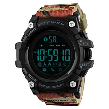 JQXB Bluetooth Smart Hombres Reloj Andriod iOS Compatible ...