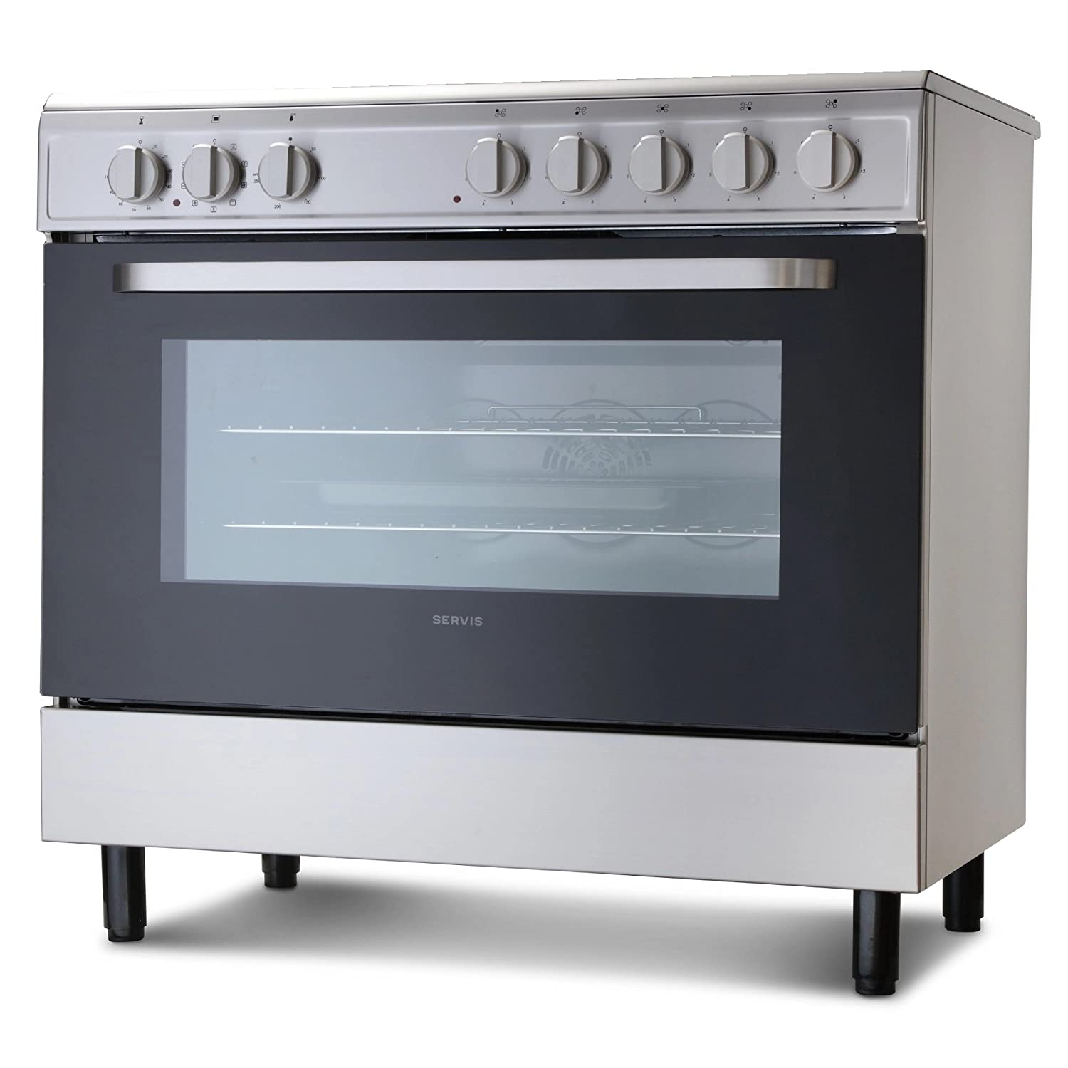 Montpellier MR90CEMX 90cm Electric Single Oven Range Cooker With ...