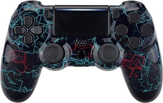 eXtremeRate Carcasa para PS4 Funda Delantera Protectora de la Placa Frontal Cubierta para Mando de Playstation 4 PS4 Slim Pro CUH-ZCT2 JDM-040 JDM-050 JDM-055 (Marco de neón): Amazon.es: Electrónica