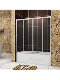 Bathtub sliding doors amazon sunny shower bp04p4 frameless sliding bathtub planetlyrics Images