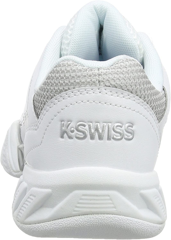 K-Swiss Performance KS TFW BIGSHOT LIGHT 3 CRPT-WHT/SILVER-M dames tennisschoenen Wit-zilver.