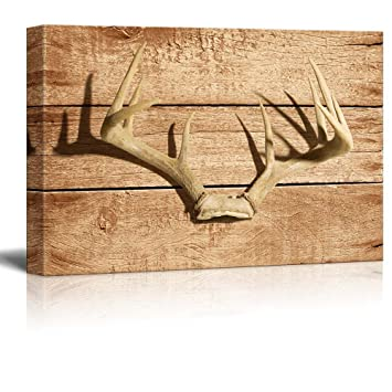 Rustic Canvas Wall Art.Wall26 Rustic Canvas Wall Art Deer Antler Giclee Print Modern Wall Decor Stretched Gallery Wrap Ready To Hang Home Decoration 12x18 Inches