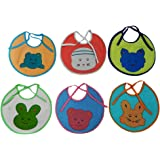 Baby Feeding Multicolor Towel Cloth Bib For 0-6 Months Baby -Set of 6 By Crack4Deal