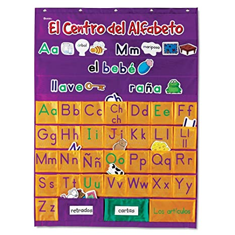 Spanish Alphabet Chart | Amazon Com Learning Resources Spanish Alphabet Pocket Chart Office