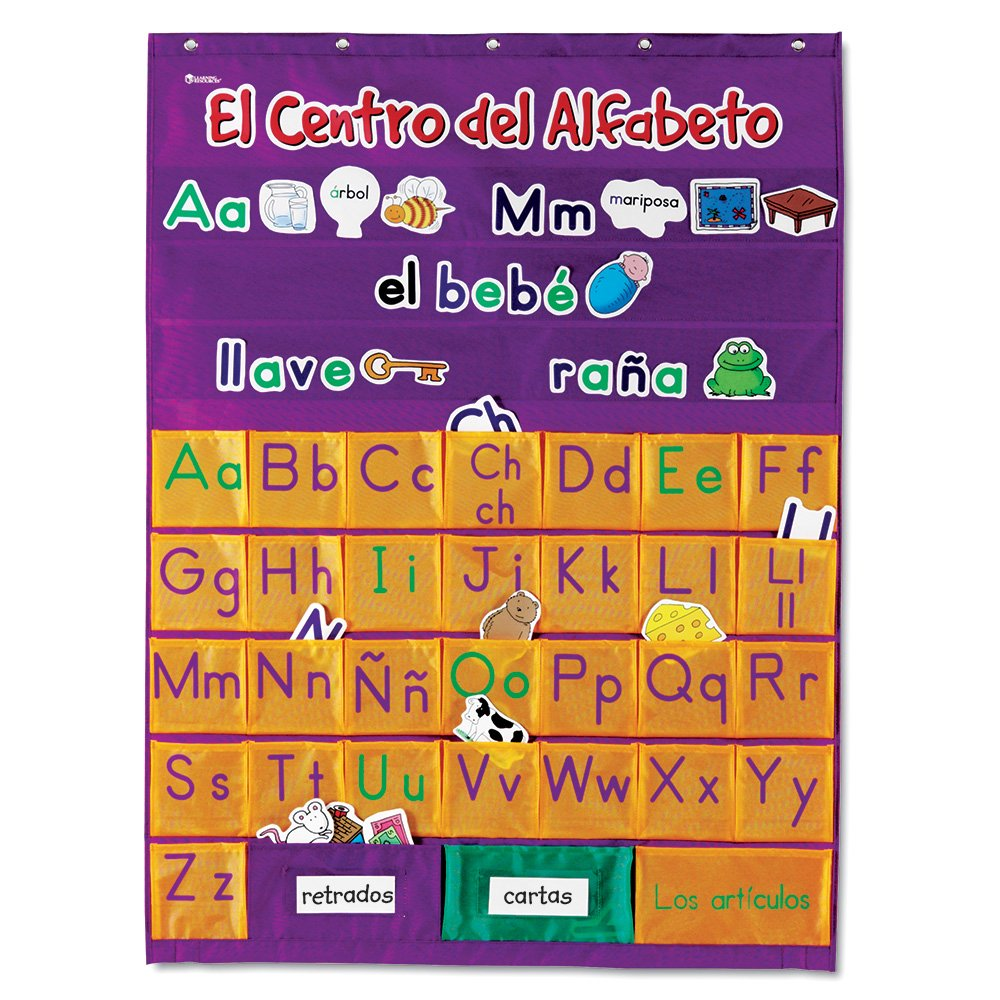 Learning Resources Spanish Alphabet Pocket Chart