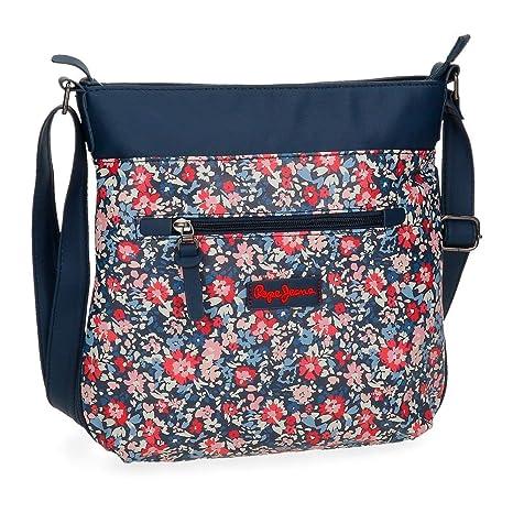 variedad de diseños y colores pero no vulgar gama completa de artículos Pepe Jeans Edna Print Bolso Bandolera, 3.51 litros, Color Azul